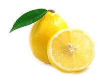 Ripe lemon isolated. Royalty Free Stock Photos