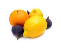 Ripe lemon isolated on white closeup Stock Photography