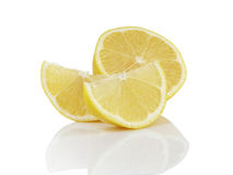 Ripe lemon slices Royalty Free Stock Images