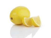 Ripe lemon slices Stock Photos