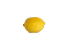 Ripe lemon on white Stock Image