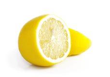 Ripe lemon. Ripe yellow lemon on a white background Royalty Free Stock Photos