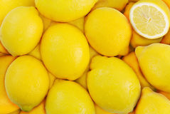 Ripe lemons. Stack of lemons. Can be used as background Royalty Free Stock Image