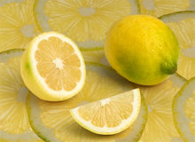 Ripe lemons background Royalty Free Stock Images