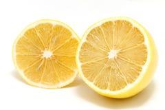 Ripe lemons isolated Stock Image
