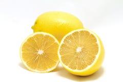 Ripe lemons isolated Stock Photo