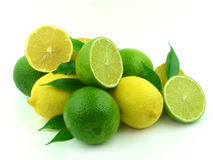 Ripe Lemons and lime Stock Photo