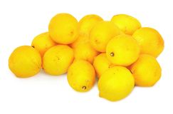 Ripe lemons on white Stock Image
