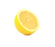 Ripe lemons on white background Royalty Free Stock Photo