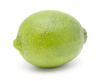 Ripe lime. Single ripe lime on white background Stock Images