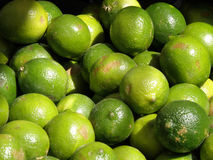 Ripe Limes. At a farm stand Royalty Free Stock Images