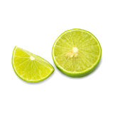 Ripe limes  Isolated on white background. Ripe limes Isolated on white background as package design element Royalty Free Stock Images