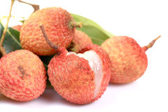 Ripe litchi fruit Stock Photography