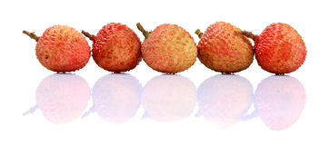 Ripe litchi fruit Royalty Free Stock Photo