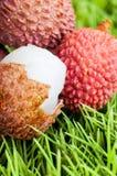 Ripe lychee fruit Stock Photo