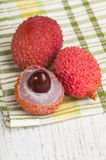 Ripe lychee fruit Stock Images