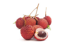 Ripe lychee fruit Royalty Free Stock Images