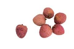 Ripe lychee. royalty free stock photography