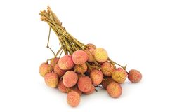 Ripe lychee (Litchi chinensis) Stock Photos