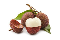 Ripe lychee Stock Photography