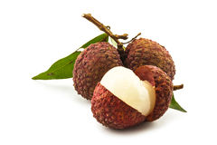 Ripe lychee Stock Photos