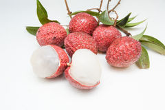 Ripe Lychees Royalty Free Stock Photography