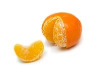 Ripe mandarin without one lobule Royalty Free Stock Image
