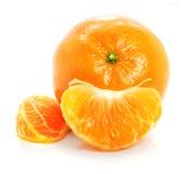 Ripe mandarine fruit isolated food on white stock images
