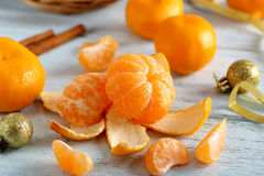 Ripe mandarins Royalty Free Stock Photos