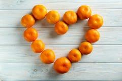 Ripe mandarins Stock Images