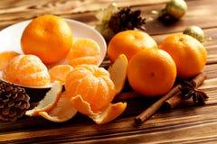 Ripe mandarins Royalty Free Stock Images