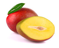 Ripe mango isolated on white Royalty Free Stock Image
