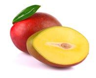 Ripe mango isolated on white Royalty Free Stock Image
