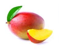 Ripe mango isolated on white. Ripe mango isolated on white background stock images
