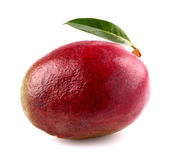 Ripe mango with leaf Royalty Free Stock Photo