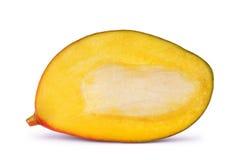 Ripe mango slices on white Stock Photos