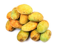 Ripe mangoes. Over white background Royalty Free Stock Photos