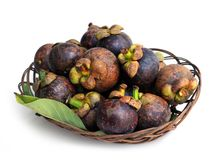 Ripe mangosteen Stock Photo