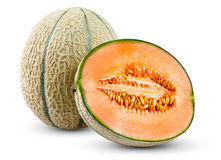 Free Ripe Melon Cantaloupe Fresh Juicy Slice Isolated On White Background. Stock Image - 65759201