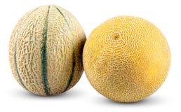 Ripe Melon Cantaloupe, Galia isolated on white background Royalty Free Stock Photos