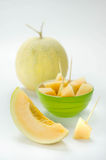 Ripe melon fruit Stock Photos