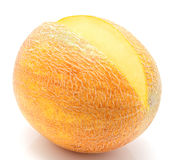 Ripe melon isolated on a white Royalty Free Stock Photos