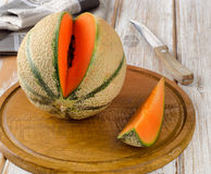 Ripe melon Stock Photos