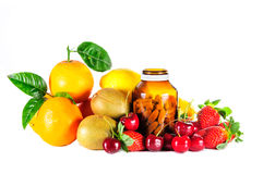 Ripe mix fruit Stock Photos