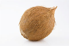 Ripe and mouth-watering coconut. Ripe and appetizing coconut isolated on white background Stock Images