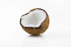 Ripe and mouth-watering coconut Royalty Free Stock Photo