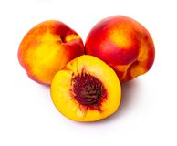 Ripe nectarine close-up Stock Photo