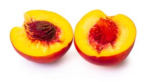 Ripe nectarine close-up Royalty Free Stock Images