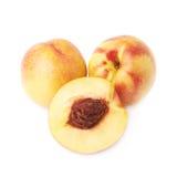 Ripe nectarine fruit isolated Stock Photo