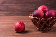 Ripe nectarine fruit royalty free stock photos